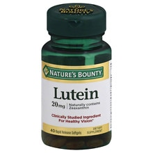 Lutein 20 mg Dietary Supplement Softgels