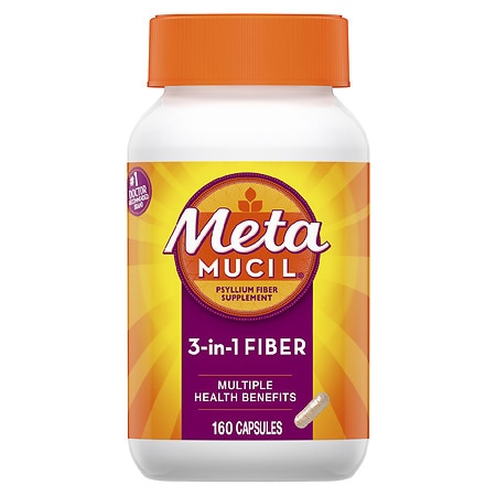 Metamucil Multihealth Fiber Daily Supplement Capsules