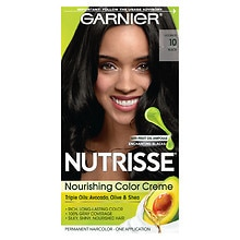 Garnier Nutrisse Nourishing Color Creme Permanent Haircolor Black 10 (Black Licorice)