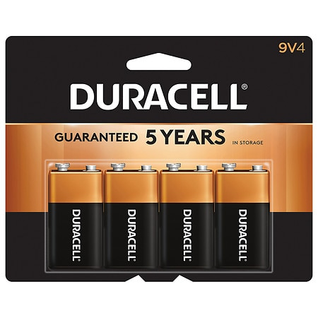 Duracell Coppertop Alkaline Batteries 9V