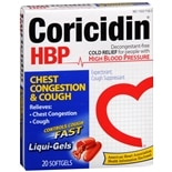 Coricidin HBP Chest Congestion & Cough, Non-Drowsy Liqui-Gels