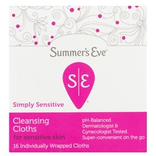 Feminine Cleansing Cloths for Sensitive Skin, Island Splash