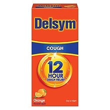 Delsym Extended Release Cough Suppressant, 12 Hour Orange Flavored Liquid