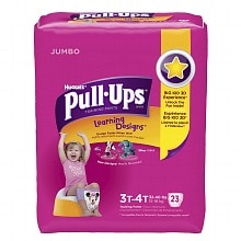 Huggies Pull-Ups Training Pants for Girls with Learning Designs, Jumbo Pack, 23 ea Size 2 3T-4T