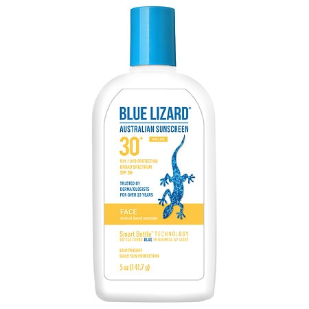Blue Lizard Australian Sunscreen, Face, SPF 30+