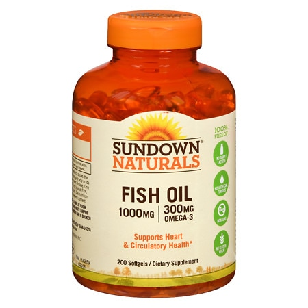 Sundown Naturals Fish Oil, 1000mg, Softgels