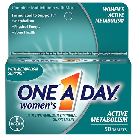 One A Day Women's Active Metabolism Multivitamin/Multimineral Supplement Tablets