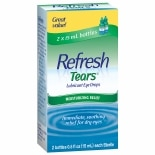 REFRESH Tears Lubricant Eye Drops 2 Pack