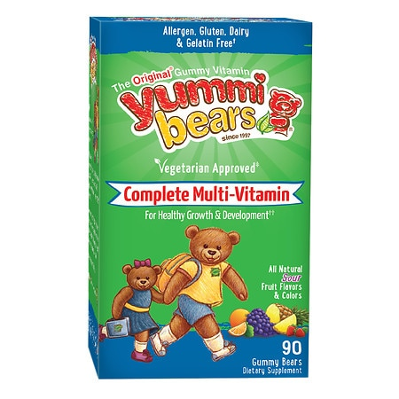 Yummi Bears Vegetarian Multivitamin & Mineral, Gummy Bears
