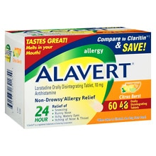 Alavert Allergy, Orally Disintegrating Tablets Citrus Burst