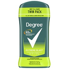 Degree Men Body Responsive Antiperspirant & Deodorant Invisible Solid, Twin Pack Extreme Blast