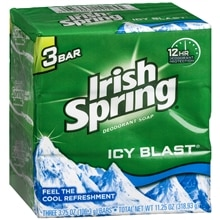 Irish Spring Deodorant Bath Bar Icy Blast,3.75oz