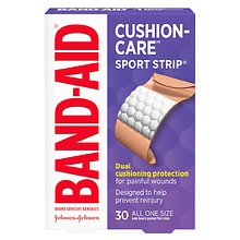 Band-Aid Sport Strip Extra Wide  Adhesive Bandages Extra Wide