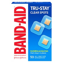 "Band-Aid Clear Spots Adhesive Bandages 7/8"" x 7/8"" Square"