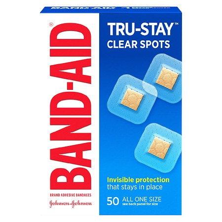 Band-Aid Perfect Blend Clear Bandages 7/8 in x 7/8 in Square