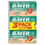 Bayer Chewable Low Dose Baby Aspirin Tablets Orange