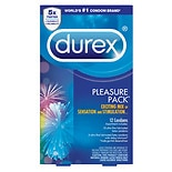 Durex Pleasure Pack Assorted Premium Lubricated Latex Condoms