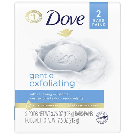 Dove Gentle Exfoliating Beauty Bar 2 Pack