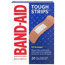Band-Aid Tough-Strips All One Size Adhesive Bandages