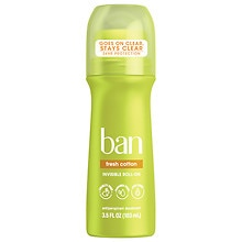Ban Roll-On Antiperspirant & Deodorant Fresh Cotton