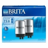Brita Faucet Filter Replacement Cartridges, Chrome
