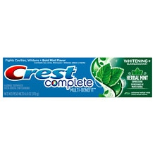Crest Complete Multi Benefit Toothpaste, + Whitening Herbal Mint Expressions