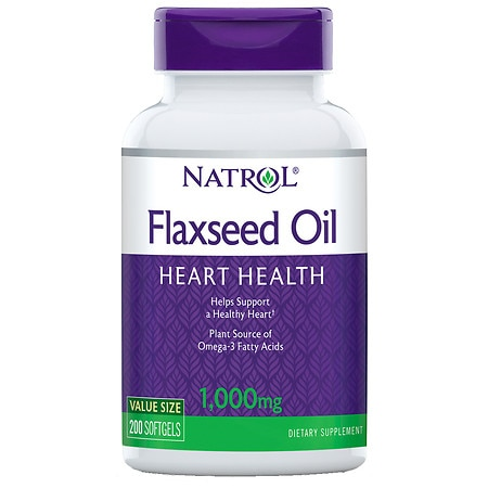 Natrol Omega-3 Flax Seed Oil 1000 mg Dietary Supplement Softgels