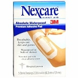 Nexcare Absolute Waterproof Premium Adhesive First Aid Pads 2 3/8 in x 4 in