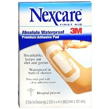 Nexcare Waterproof Transparent Dressing Sterile Adhesive Pads