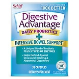 Schiff Digestive Advantage Intensive Bowel Support Dietary Supplement Capsules