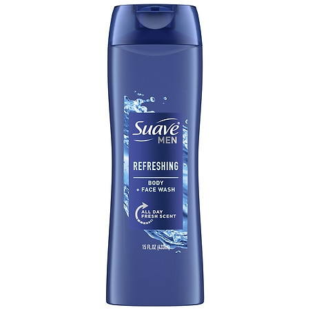 Suave for Men Men's Refreshing Splash Body Wash Refreshing, Classic Masculine Scent