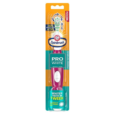 SpinBrush by Arm & Hammer Pro-Whitening Powered Toothbrush Medium