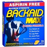 Backaid Aspirin Free Analgesic Diuretic