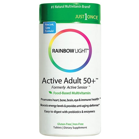 Rainbow Light Active Adult 50+ Food-Based Multivitamin, Tablets