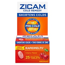Zicam Cold Remedy Cold Remedy RapidMelts Quick Dissolve Tablets