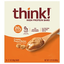 ThinkThin High Protein Bar Creamy Peanut Butter