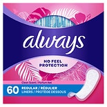 Always Fresh Thin Regular Pantiliners Scented Regular, 60 ea