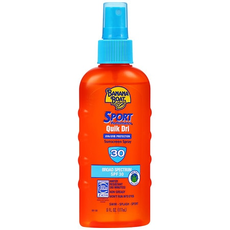 Banana Boat Quick Dri Sport Sunscreen Spray Body & Scalp, SPF 30