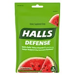 Halls Defense Vitamin C Supplement Drops Watermelon