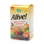 Nature's Way Alive! Whole Food Energizer Multivitamin, No Iron, Tablets