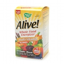 Alive! Whole Food Energizer Multivitamin, No Iron, Tablets