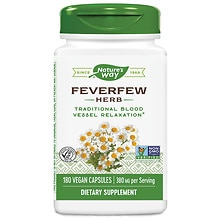Feverfew Leaves 380 mg, Capsules
