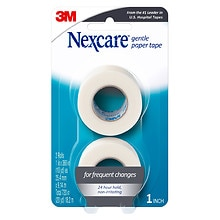 "Nexcare First Aid Gentle Paper Tape 2 Pack 1"" x 360"" Rolls"