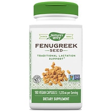 Nature's Way Fenugreek Seed Dietary Supplement 610 mg Capsules