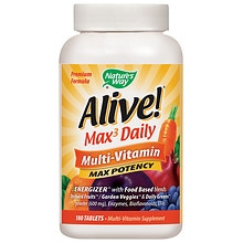 Alive! Whole Food Energizer Multivitamin Tablets