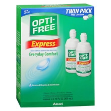 Opti-Free Express, Lasting Comfort No Rub, Multi-Purpose Disinfecting Solution Twin Pack