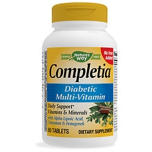 Nature's Way Completia Diabetic Multivitamin Iron Free, Tablets