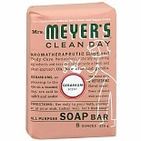 Mrs. Meyer's Clean Day All Purpose Soap Bar Geranium