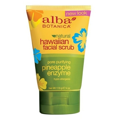 Alba Botanica Hawaiian Facial Scrub Pore Purifying Pineapple Enzyme