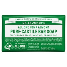 Dr. Bronner's All-One Hemp Pure-Castile Soap Bar Almond